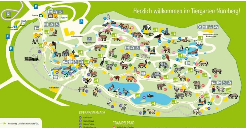 ZOO Norimberk – mapa